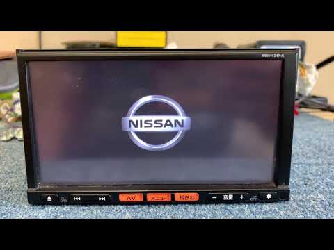 NIssan MM113D-A Boot SD Card And Language Change From Japanese To English