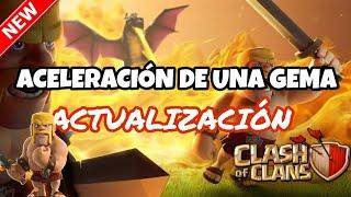Mi primer vídeo de clash of clans, bebes dragones al máximo, actualización y aceleración de una gema