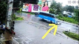 കക്കാട് പെട്രോൾ പമ്പിന് സമീപം ബസും സ്കൂട്ടറും കൂട്ടിയിടിച്ചു /Today bus accident in kakkad