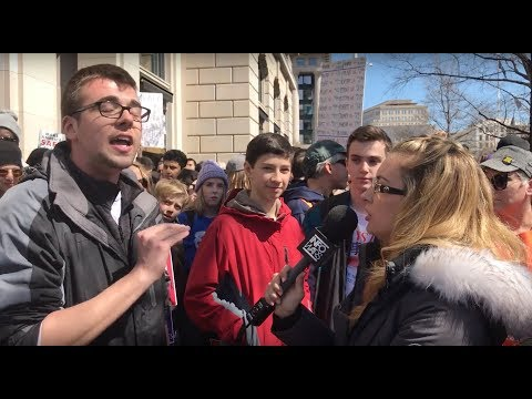 Heated Gun-Control Debates at March For Our Lives