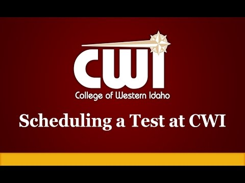Scheduling a Test at CWI