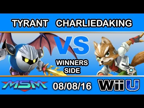 MSM 61 - NME   Tyrant (Meta Knight) Vs. A2   Charliedaking (Fox) Winners Side - Smash Wii U