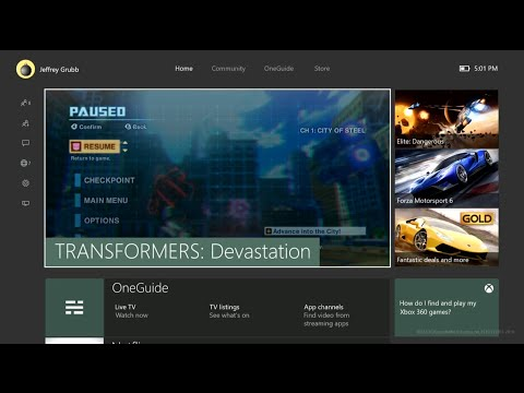 New Xbox One Experience tour -- an early look at Xbox One's November update