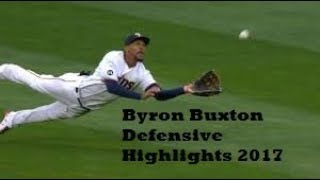 Byron Buxton Gold Glove Defensive Highlights 2017
