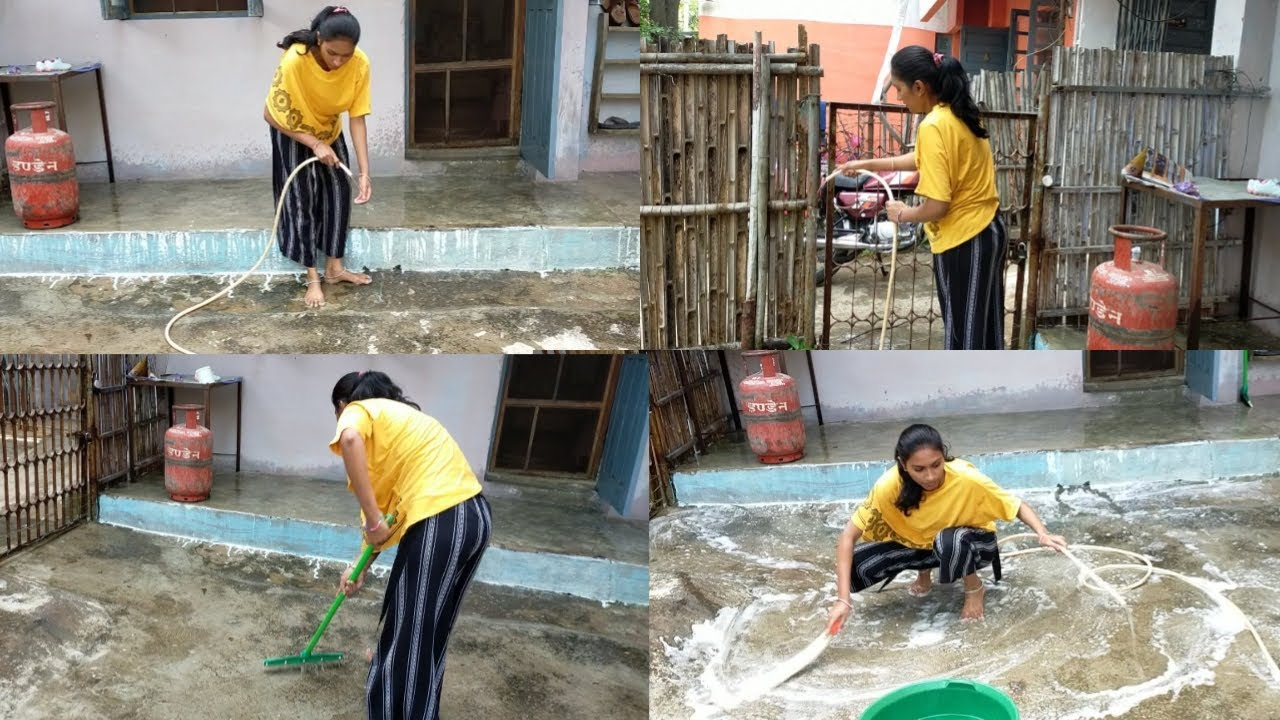 Download 💁Outdoor Cleaning with Me Desi Style 🏡 Cleaning Motivation 🧹Indian Cleaning Village Lifestyle
