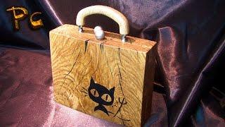 Handbag Collection. Сумочка-клатч из дерева дуб.