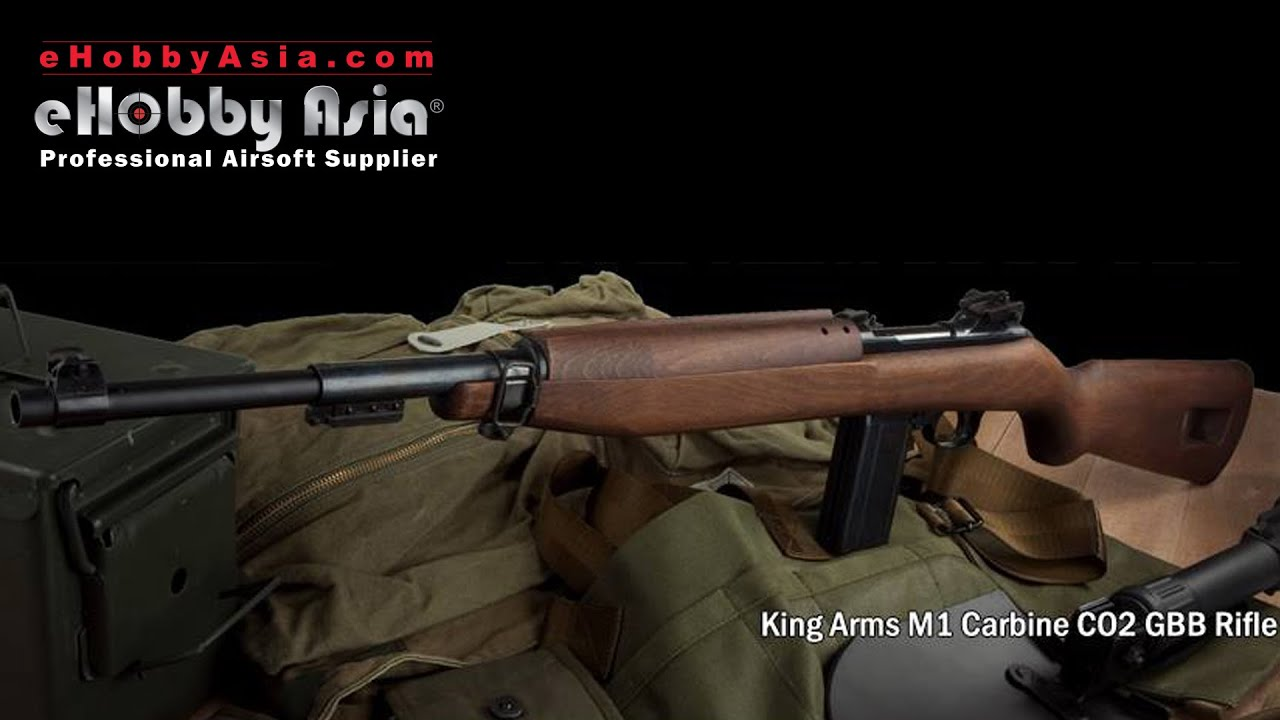 King Arms M1 Carbine CO2 Demo by eHobby Asia