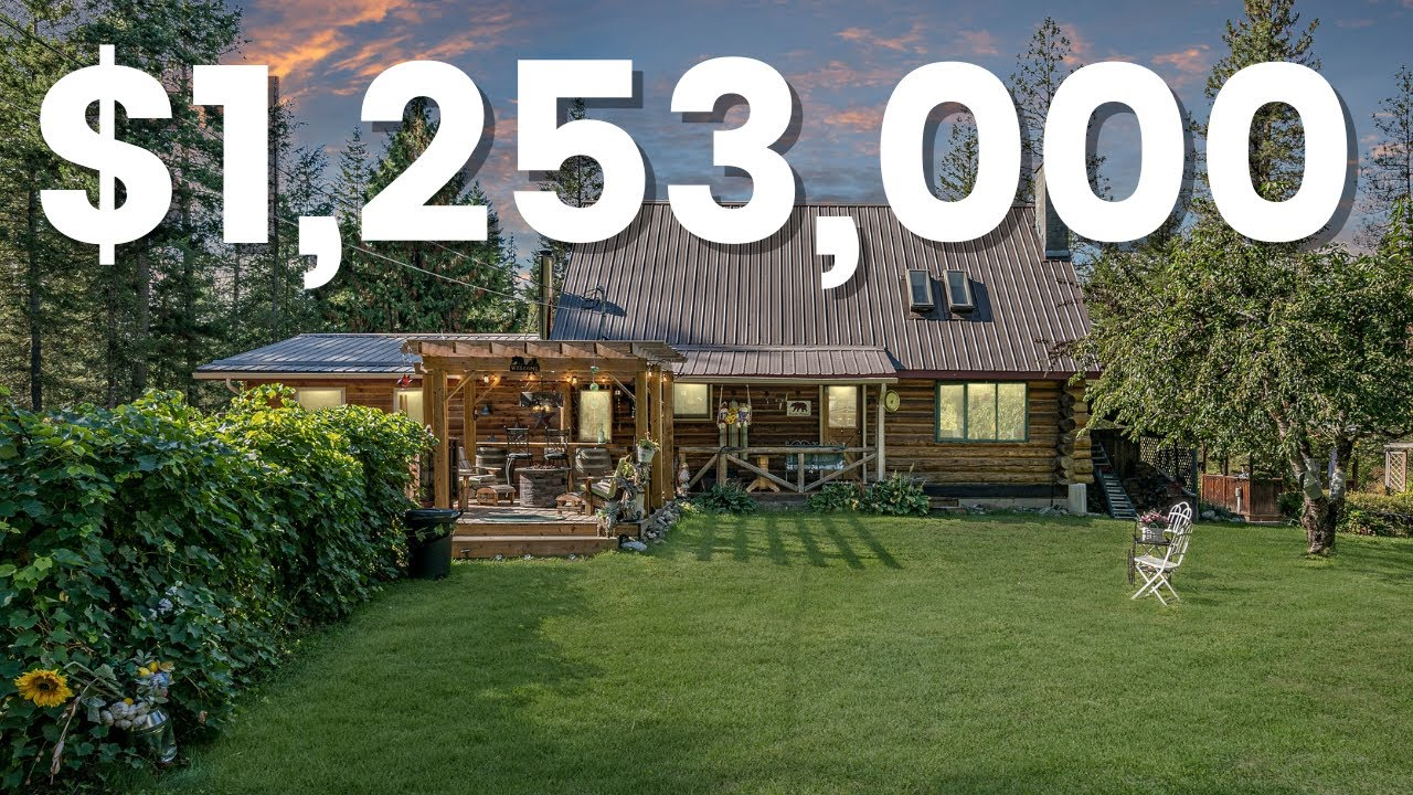 INSIDE this 1.249 MILLION DOLLAR log home and COUNTRY STYLE OASIS in Armstrong BC