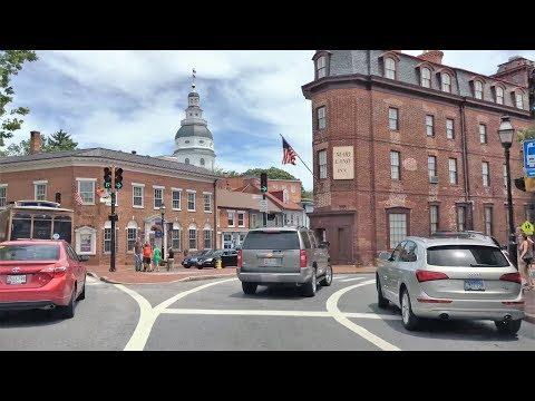 Driving Downtown - Annapolis 4K - Maryland USA