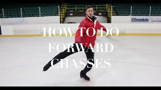HOW TO DO FORWARD CHASSES | FIGURE SKATING ❄️❄️