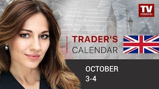 InstaForex tv news: Traders' calendar for October 3 - 4: USD to assert strength on nonfarm payrolls