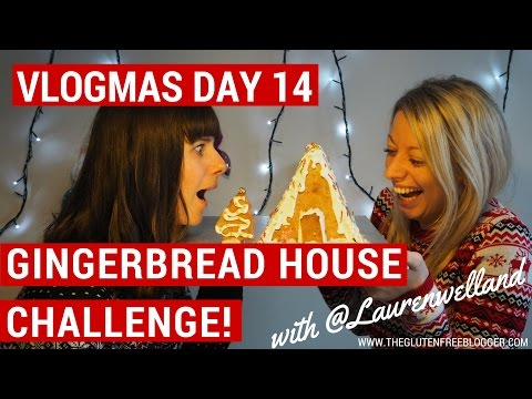 Gluten free gingerbread house challenge! | VLOGMAS DAY 14