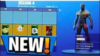 Fortnite Season 4 Battle Pass ALL REWARDS [ Skins / Dances / Axes etc ] Fortnite Battle Royale
