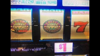 JACKPOT★Triple Diamond Dollar Slot Machine Max Bet $3 Hand Pay at San Manuel Casino CA, Akafuji slot