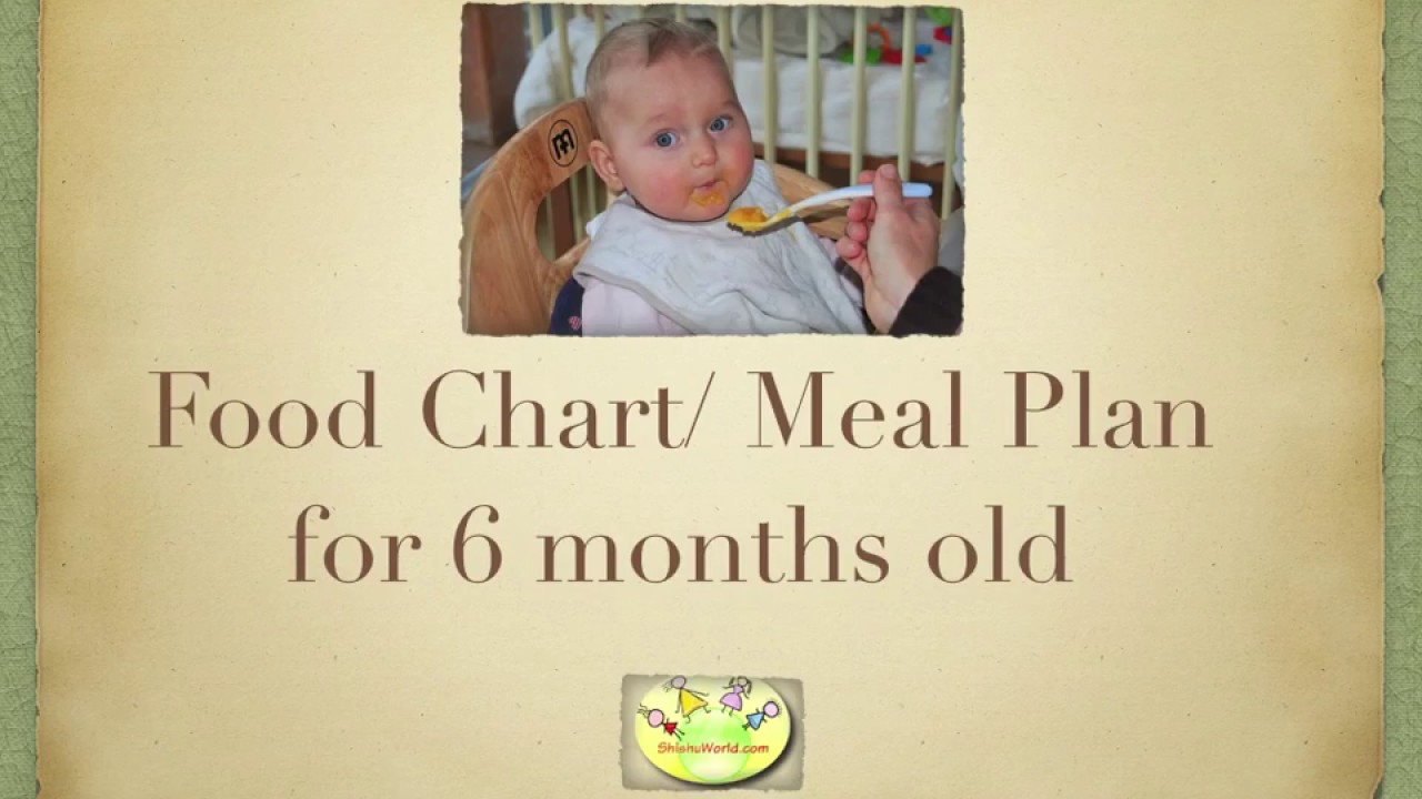 6 month baby food chart meal plan for 6 months old youtube 6 month baby food chart meal plan for 6 months old nvjuhfo Choice Image