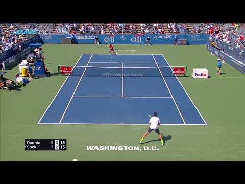 Zverev, Nishikori, Anderson and Sock reach semis | City Open Washington 2017 Day Five Highlights