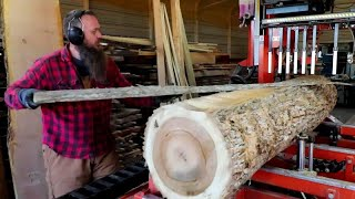 Back To Basics:  How I Saw Logs Into Boards On My Sawmill,