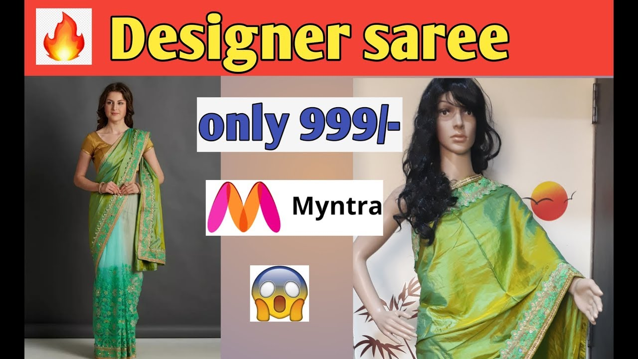 0a42e08c51fd29 Myntra Mitera Embroidered Saree   Online Shopping Saree Review ...