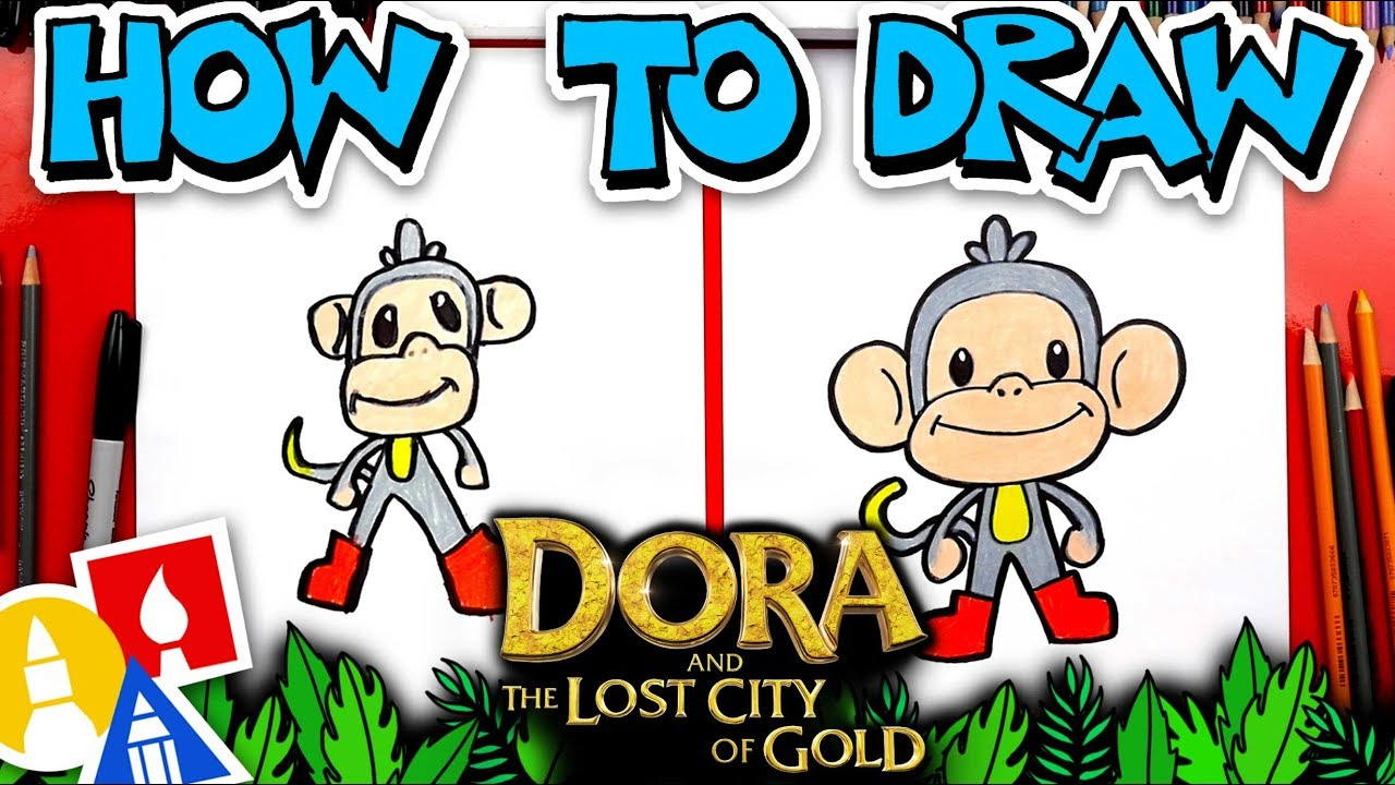 How To Draw Boots From Dora And The Lost City Of Gold