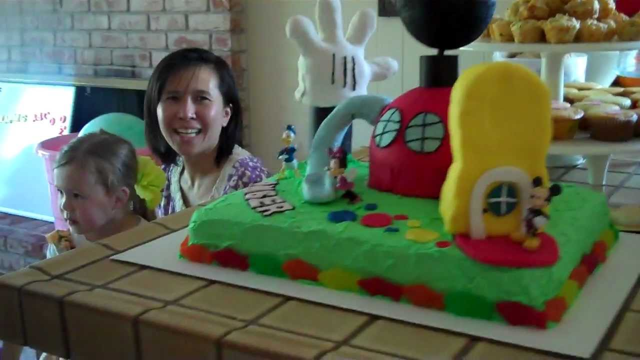 Mickey Mouse Clubhouse Birthday Cake Youtube