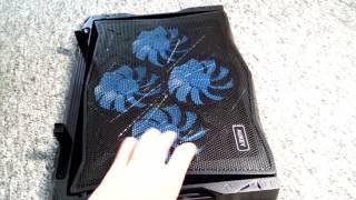 AUKEY Laptop Kühler, 4 regelbare Lüfter, 5 verstellbarer Winkel Notebook Cooler Cooling Pad