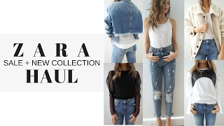 ZARA Sale + New Collection Haul & Try On 2017