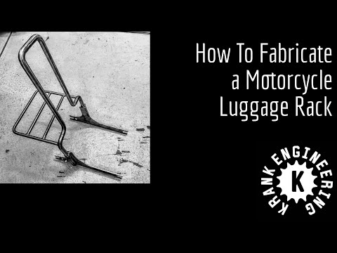 How to fabricate a motorcycle luggage rack (for a Dyna)