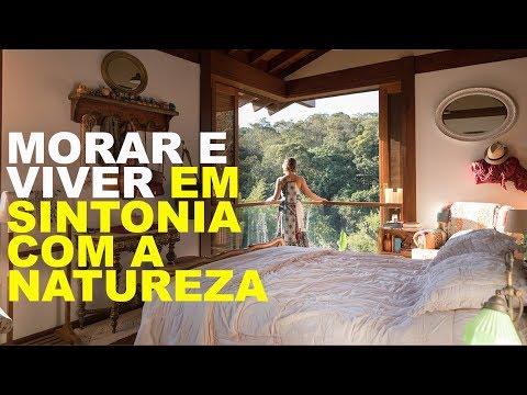 MORAR E VIVER EM SINTONIA COM A NATUREZA - CASA SUSTENTÁVEL CERCADA DE VERDE POR TODOS OS LADOS