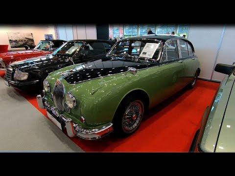 JAGUAR MK2 3.5L MARK 2 CLASSIC CAR 1965 GREEN BLUE COLOUR WALKAROUND