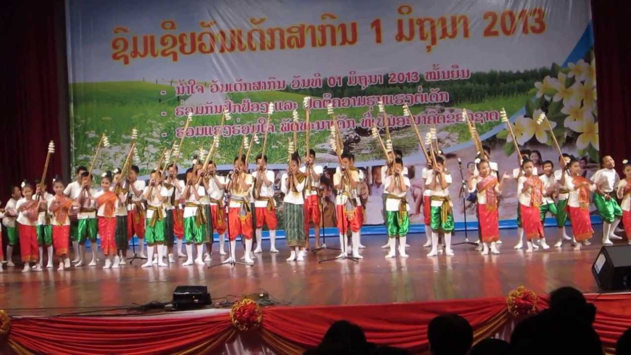Sieng Khene Lao Youth Traditional Music Laos 2013 Youtube