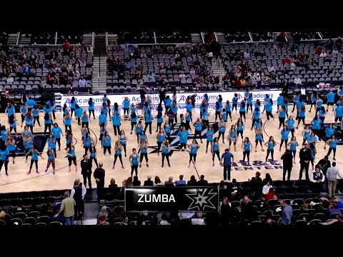 SPURS HALFTIME ZUMBA PERFORMANCE 2015   AT&T CENTER