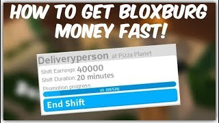 How to get money FAST in roblox bloxburg. [Bloxburg giveaways discord in description]