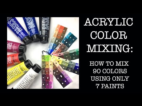Acrylic Techniques: How to Mix 90 Colors from 7 Paints