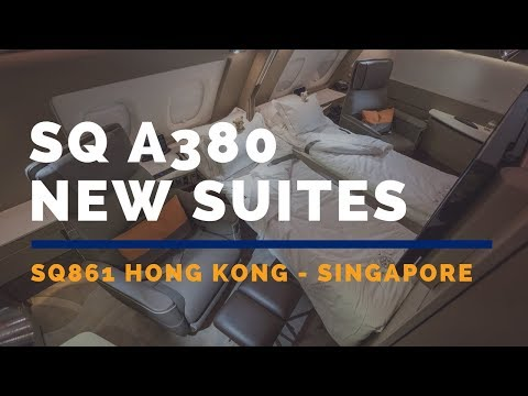 Singapore Airlines A380 New Suites  SQ861 Hong Kong - Singapore