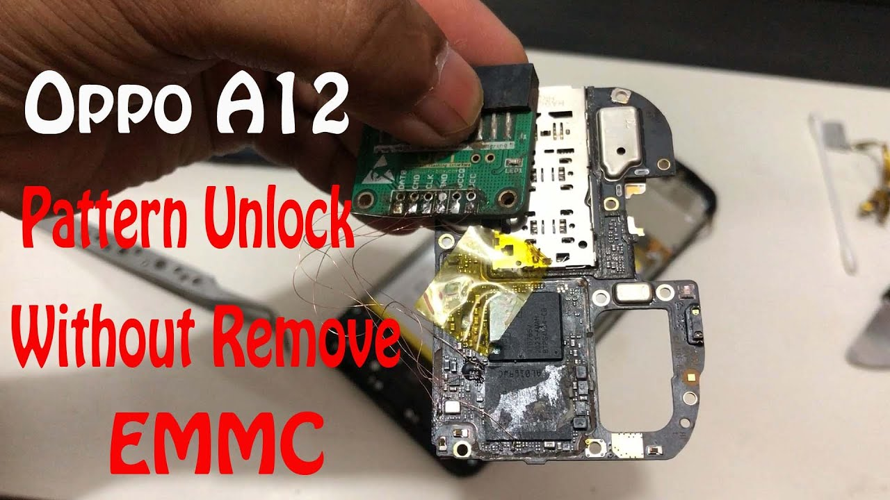 Oppo A12 Cph 2083 Pattern Unlock Without Remove EMMC Chip,Try This New Method 2020