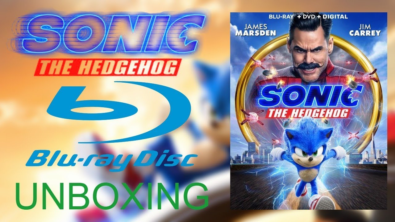 Sonic The Hedgehog Blu Ray Unboxing Youtube