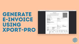 E-Invoice For Export Industry