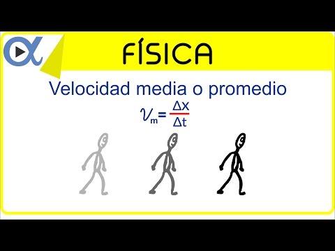 Velocidad media o promedio ejemplo 1 de 4 | Física - Vitual
