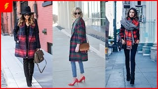 How To Look Chic In A Plaid Coat This Season
