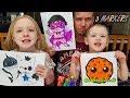 3 Marker Challenge YouTubers Edition #2 CookieSwirlC, PinkFong, Ryan ToysReview!!!