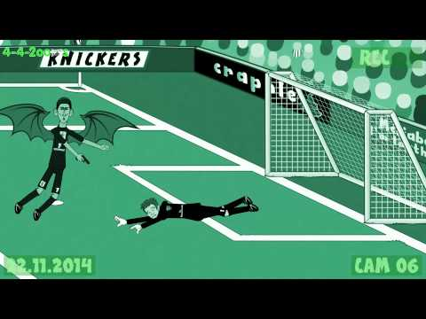 ⚽️Arsenal vs Manchester Utd 1-2⚽️ (2014 goals highlights Rooney Gibbs 442oons football cartoon)