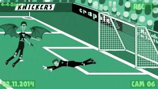 Arsenal vs Manchester United 1v2 by 442oons -23.11.14 goals highlights Rooney Gibbs football cartoon