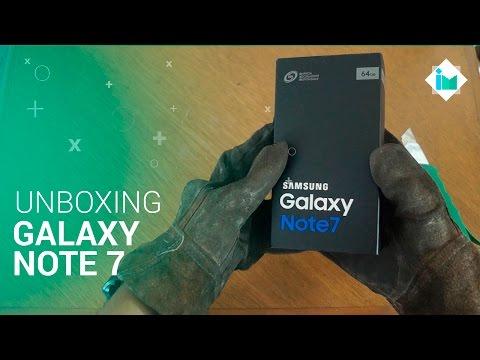 Samsung Galaxy Note 7 - Unboxing / Hands-On en español