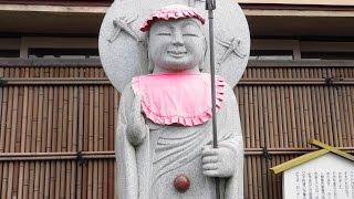 へそ石・へそ地蔵・・・渋川市/群馬県・・・お顔の優しいお地蔵様ですね