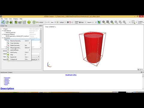 EDEM 2017 tutorial: Setup simple simulation of DEM particles