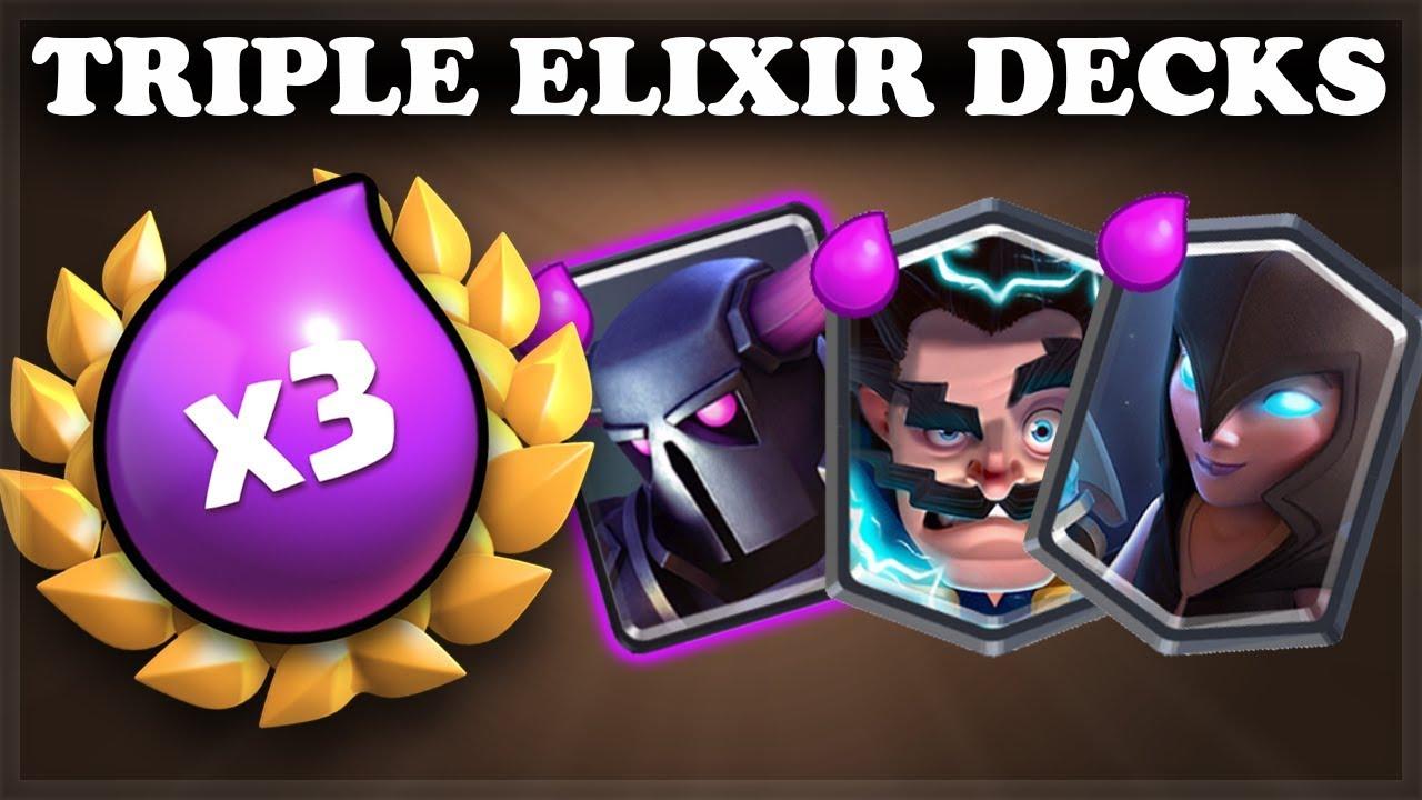 Best Double Elixir Decks 2020 Triple Elixir Challenge Tips | Decks, tutorials, tips, how to play