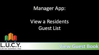 Manager - Look Up a Resident Guest