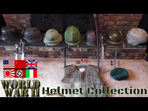 War Helmet Military Collection WWI WWII Japan German Vietnam