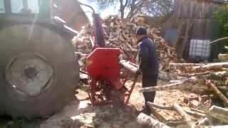 заготовка дров, дровокол с гидравличесским приводом работающий от вала отбора мощности(, 2015-05-05T06:49:47.000Z)