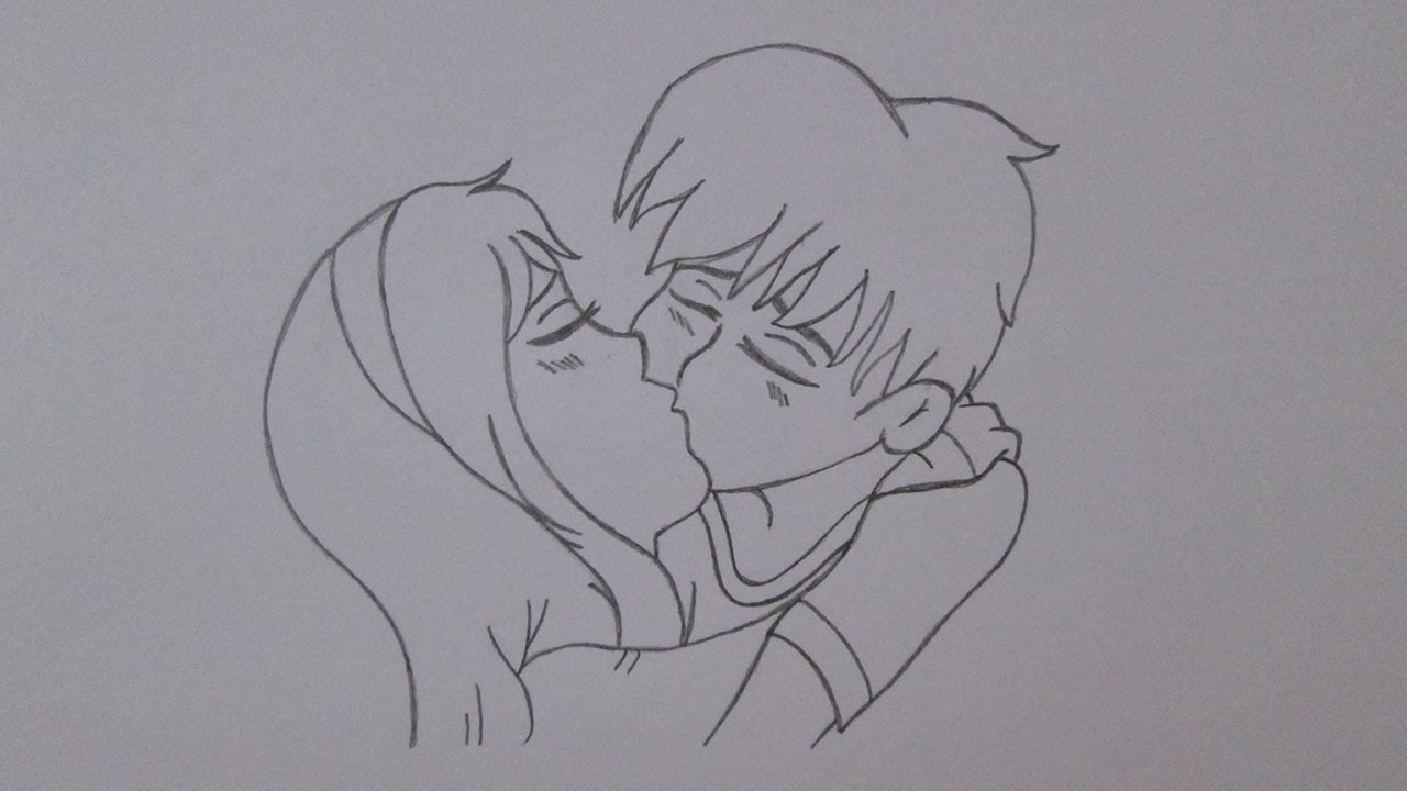 How To Draw A Boy And A Girl Kissing Youtube